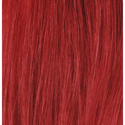 #RED Röd - Premium äkta löshår remy nagelslingor