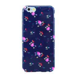 Mjukskal iPhone 6/6S PLUS - Blommor mörkblå