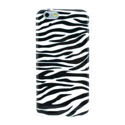 Mjukskal iPhone 6/6S PLUS - Zebramönster vit & svart