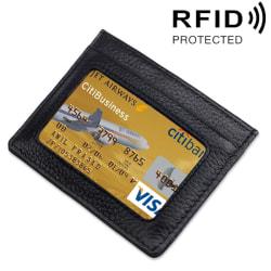 Öppen plånbok med RFID-skydd och plats för ID-kort Svart