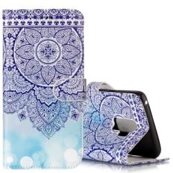 Plånboksfodral för Galaxy S9 Plus -  Mandalablomma blå