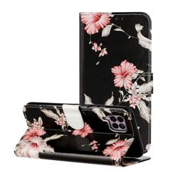 Plånboksfodral för Huawei P40 Lite - rosa blommor