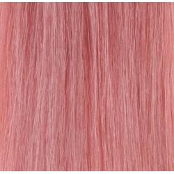 Premium Single Drawn äkta hår microringar #PINK 50cm