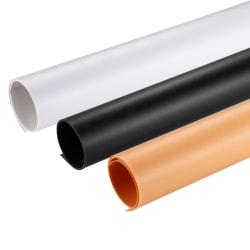 PULUZ 3st färger PVC Pappersbakgrund 120x60cm