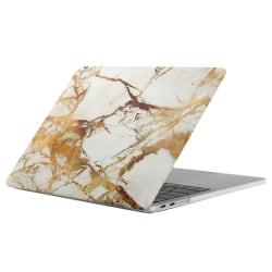 Skal för New Macbook Pro 13.3-tum - Marmor vit & guld