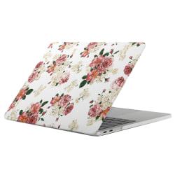 Skal för New Macbook Pro 13.3-tum - Vit med rosa blommor