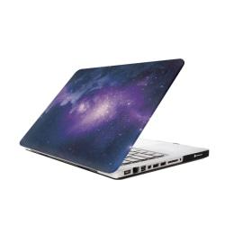 Skal Macbook Pro 13.3-tum - Rymdmönster (Lila & Blå) Lila & Blå