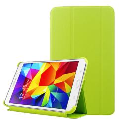 Skal med lock Galaxy Tab 4 (8.0) - Konstläder limegrön