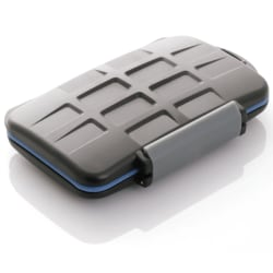 Vattentät ask för minneskort 4xCF 2xMicroSD 2xSD  2xXD