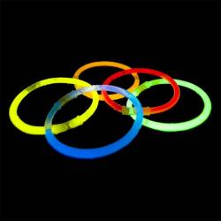 Självlysande Armband Glowsticks 100st Blandade färger 12H