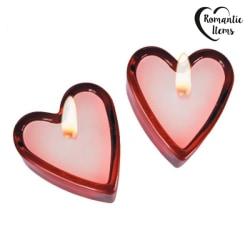 Hjärtformade doftljus (2-pack)