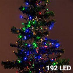 Julgransbelysning flerfärgad (192 LED) Ljusslinga