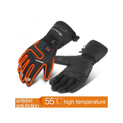 1 Pair Electric Heated Glove Waterproof Touch Screen(No Battery) Black M