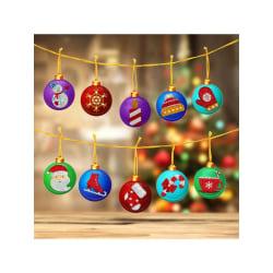10ST DIY Diamantmålning Jul Hängande Hängande Prydnad