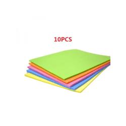 10PCS Kitchen Dishcloth Cellulose Sponge Cloths Reusable  Multicolor