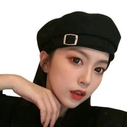2021 Kvinnor Vintage Berets hatt tunn åttkantig motorhuv målare mössa