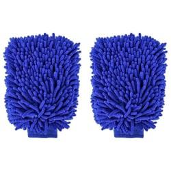2PCS vinter biltvätt handskar Chenille mikrofiber vattentät