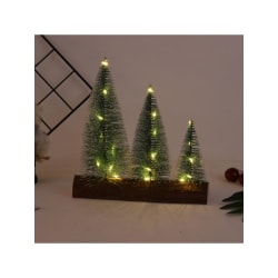 3 Conjoined LED Tabletop Christmas Tree Miniature Pine Frosted B