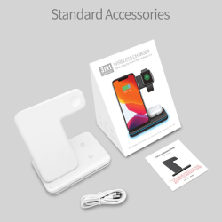 3-in-1 Wireless Charger For IPhone AirPods Watch White
