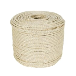 5M Sisal Rope for Cat Scratching Post Toy Board to Exercise Claw Yellow 5M