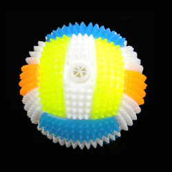 6.5CM Baby Kids Light-up Toy Bouncing Sound Balls Luminous Random color Volleyball