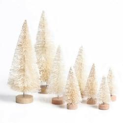 8PCS Small Christmas Tree Set Simulation Table Decoration White
