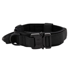 Adjustable Pet Collar Suitable for Medium and Large Dog Training Black XL