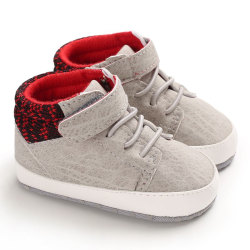 Baby casual soft bottom  toddler shoes Dark Grey 0-6Months