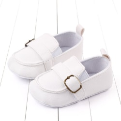 Baby Girl Cute PU Leather Soild Pattern Peas Shoes