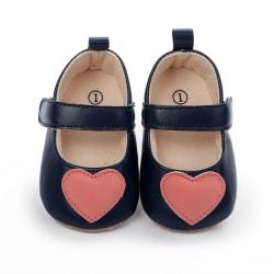 Baby Girls PU love printing princess non-slip toddler shoes