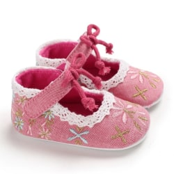 Baby Lovely Floral  Embroidery Shoes A3 12-18Months