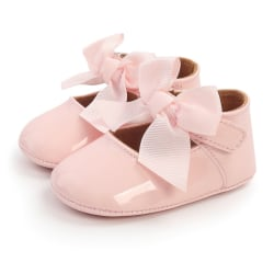 Baby PU Leather bow-knot anti-skid first walker shoes P 6-12Months
