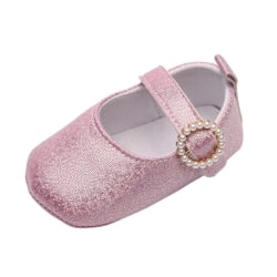 Baby Shallow shiny pearl buckle princess toddler shoes