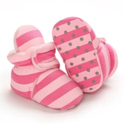 Baby Striped Non-slip Soft-Soled Warm Toddler Shoes