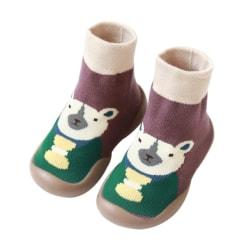 Baby Warm Cotton Cartoon Print Floor Socks Shoes Anti Slip