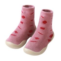 Baby Warm Cotton Love pattern  Floor Socks Shoes Anti Slip