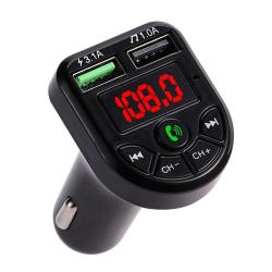 Bluetooth 5.0 FM Transmitter Car Kit MP3 Charger Black