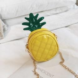 Children Pineapple Design Cross-body Handbag Yellow