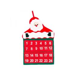 Christmas 24 Day Hanging Advent Calendar Santa Claus Non-Woven