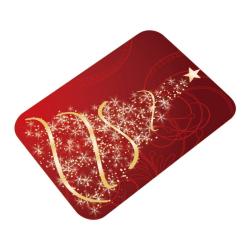 Christmas Doormats Anti-Slip Mat 3D Thickened Flannel Carpet