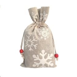 Christmas Drawstring Gift Bags Reusable Candy Cookies Bag C