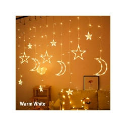 Christmas Light Moon Star Lamp LED Lamp String Curtain Decor as the picture