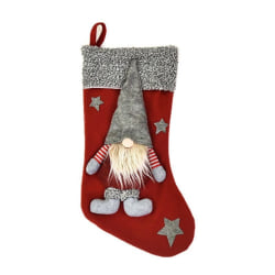 Christmas Stocking Faceless Santa Doll Red Decorations Gift Bag Red