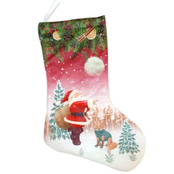 "Christmas Stocking with 3D Printed Pattern Tree Hanging Ornament as the picture 4.27"" x 10.2"" x 6.69"""