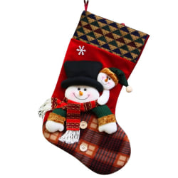 Christmas Stockings Cute Candy Gift Bag Portable Household Decor Snowman