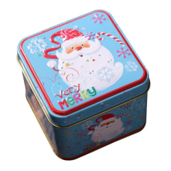 Christmas Tinplate Empty Tins Embossing Candy Cookie Storage D