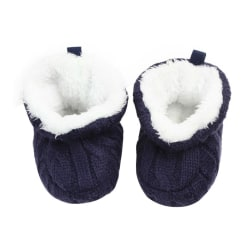 Dark Blue 6-9M Winter Baby Warm Knitted infant Boots Shoes