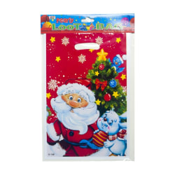 Disposable Christmas Treat Bags With Handles Candy Cookie Food A
