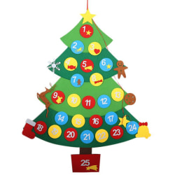 DIY Christmas Tree Advent Calendar Kit With Removable Ornaments Green