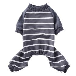 Dog 4 Legged Pyjamas Stripe Homewear Apparel Jumpsuit